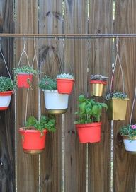 diy hanging plant garden. Mal this made me think of you