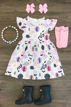 Lavendar Bunny Dress #KidsFashionStyle