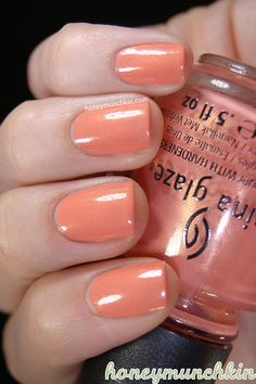 China Glaze - Mimosa's Before Mani's Orange Nail Polish, Orange You Glad, China Glaze, Mani Pedi, New Hair, Swatch, Hair Makeup, Hair Color, Nail Art