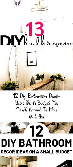 DIY Bathroom Decor Ideas that can be done with cheap Dollar Stores items  These DIY bathroom ideas are perfect for rente DIY Bathroom Decor Ideas that can be done with cheap Dollar Stores items! These # diy bathroom decor<br> DIY Bathroom Decor Ideas that can be done with cheap Dollar Stores items These DIY bathroom ideas are perfect for renters and people on a budget Transform your small bathroom with these classy easy ideas Farmhousedecor Plantdecor Minimalistdecor decorRecamaras… Funny Home Decor, Cheap Home Decor, Diy Home Decor, Diy Bathroom Decor, Small Bathroom, Bathroom Ideas, Budget Bathroom, Home Decor Inspiration, Decor Ideas