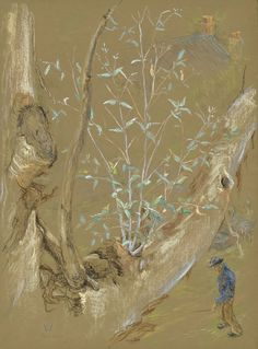 Wounded tree from our window 2003 pastel 42 x 31 cm by © Susan Dorothea White Pastel, Windows, Artist, Painting, Cake, Artists, Painting Art, Paintings, Painted Canvas