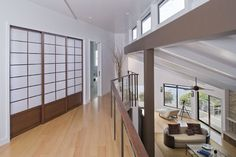 Hall with top of stair down - modern - hall - san francisco - Camber Construction