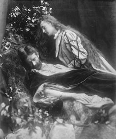 "funeral-wreaths: "" Julia Margaret Cameron, Gareth and Lynette (from Tennyson's 'Idylls of the King'), 1874. Source. """