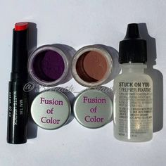 Fusion of Color Cosmetics. For a full review of some beautiful eyeshadows, a great product that transforms your pigments and powder eyeshadows into liquid eyeliner, and a beautiful lipstick, check out my blog post at: http://beneath-beauty.livejournal.com/25060.html