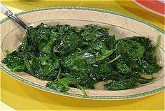 Wilted Spinach and Garlic from FoodNetwork.com