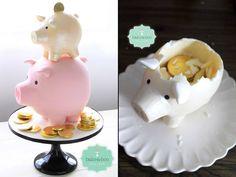 Piggy Banks Cake