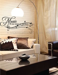 Delicieux Inspirational Wall Decals Music Is The Voice Of The Soul