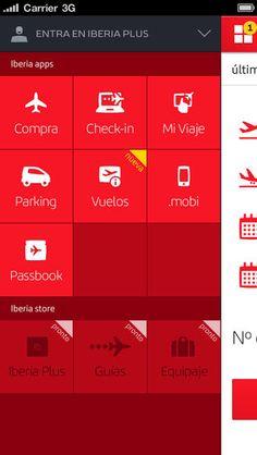 Iberia Red White Menu Flight Profile