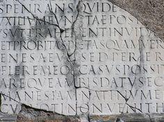 Roman capitals inscription at Via Appia.