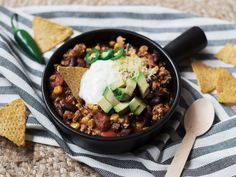 Protein rich chili with chicken // www.88food.nl