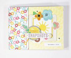 Sunny Snapshots mini album - Scrapbook.com