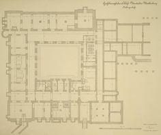Basement floor plan of Schloss Neustrelitz, the main residence of Grand Dukes of Mecklenburg-Strelitz.