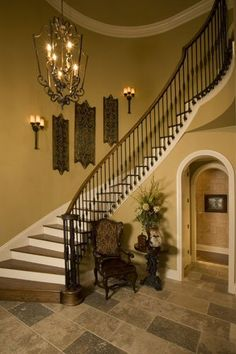 Awesome Dream Entry And Stairway! Like Walking Into A Castle! Nice Design