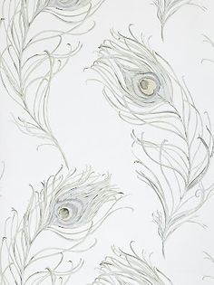 Prestigious Textiles Peacock Wallpaper, Seagrass