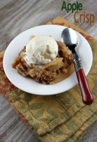 A classic favorite and something to make with your stash of delicious autumn apples!) APPLE CRISP