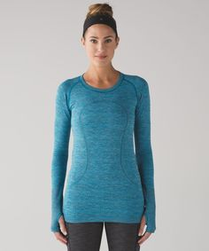 Swiftly Tech LS Crew Color: Indian Ocean/Black Size: 8 $78