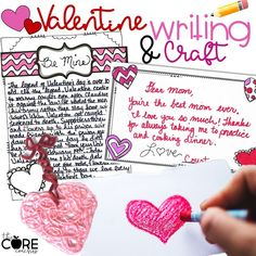 Valentine lesson plans with many ELA activities. Students read and discuss a historical text, answer text dependent questions, take notes, respond in writing, and complete a craft.