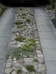 Private Danish garden / Photos by Jørn Møller Jensen. More on HAVETID. / It's no secret that there are many ways you can create interest in your garden. For example, use a monochromatic color scheme. Driveway Entrance Landscaping, Permeable Driveway, Driveway Design, Backyard Landscaping, Landscaping Design, Driveways, Rock Driveway, Driveway Ideas, Garden Steps