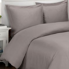 500 Thread Count Solid Cotton 3-piece Duvet Cover Set - Overstock™ Shopping - Great Deals on Duvet Covers