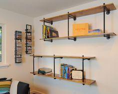 Industrial shelves for studio. desire to inspire - desiretoinspire.net - Kerrie Kelly