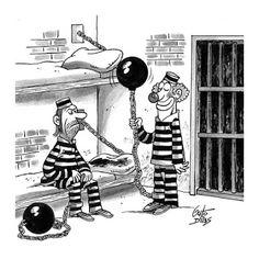 Guto Dias Studio: Cartum do Dia: Palhaço na cadeia.
