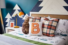 Outdoors-Inspired Big Kid Room with Layered Patterns and Textures