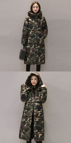 594d23f63bd Coats and jackets women fashion winter warm print overcoat stand neck thick  warm slim long jacket