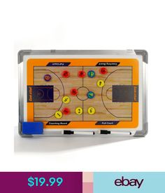 Training Aids Basketball Double Sided Coach Tactical Board + Marker Pen Football Coaches Aids #ebay #Lifestyle