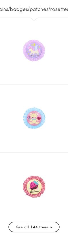 """pins/badges/patches/rosettes"" by pastel-dream-hime ❤ liked on Polyvore featuring accessories, eyewear, sunglasses, filler, patches & pins, extra, jewelry, brooches, fillers and pins"