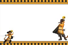 Gato de Botas - Kit Completo com molduras para convites, rótulos para guloseimas, lembrancinhas e imagens! - Fazendo a Nossa Festa