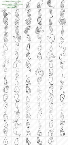 Paisley Designs Photoshop brushes set | Digital Art, Photoshop Brushes, Graphics…