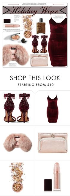 """""""Holiday Wear"""" by es-vee ❤ liked on Polyvore featuring Givenchy, Glamorous, Steffen Schraut, HOBO, Christian Dior, In Your Dreams, Kevyn Aucoin and NARS Cosmetics"""
