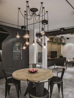 Chic industrial loft in Lithuania gets modern updates