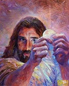 God and Jesus Christ Jesus Christ Images, Jesus Art, Jesus Our Savior, Jesus Is Lord, Christian Paintings, Christian Art, Religious Paintings, Religious Art, Religion