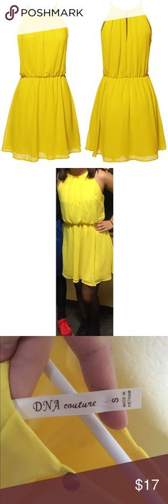 DNA Couture yellow dress DNA couture yellow dress. Elastic waist. Keyhole with button closure in back. DNA Couture Dresses Mini