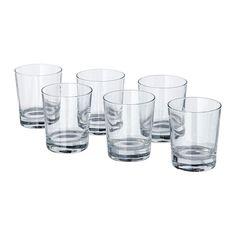 IKEA - GODIS, Glas, Glasset har en enkel, lav og lige form, der gør det perfekt til alle former for kolde drikke, f.eks. cocktails uden is.Glasset har en bred form, så du også kan bruge det som skål til at servere velsmagende desserter i.