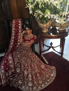 Classic Red :Timeless Bridal wear 2016 collection Old world craft 😊 Traditional and cultural look is elegant.Nice combination of colours.