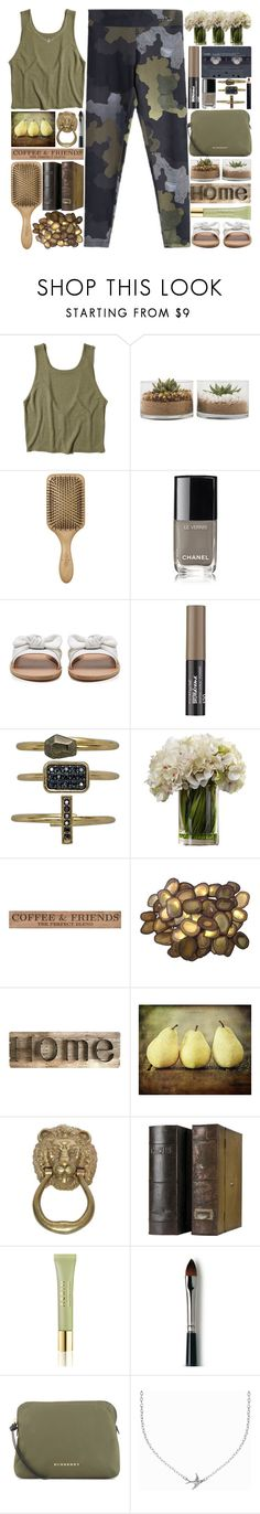 """""""Weekend at Home"""" by grozdana-v ❤ liked on Polyvore featuring Hollister Co., Barneys New York, Ancient Greek Sandals, Maybelline, DutchCrafters, C. Jeré, Pier 1 Imports, AERIN, Laura Mercier and Burberry"""