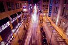 Long exposure submitted to Reddit by /u/deauxpamine. 6th ave from the Pacific Place - Nordstrom Skybridge in downtown Seattle [3456 x 2304] [OC]
