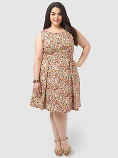 The Girl Next Door Dress In Orange & Pink Floral by Poppy&Bloom,Available in sizes 14/16,18/20 and 22/24