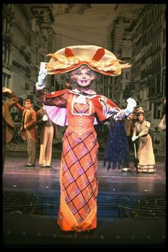 """Carol Channing in a scene from the Broadway revival of the musical """"Hello, Dolly! Carol Channing, National Theatre, Broken Leg, Hello Dolly, Classic Tv, Musical Theatre, Musicals, Broadway, Theatre Posters"""
