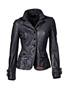 Soft Lambskin Leather Biker Jacket For Women