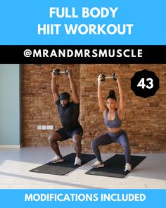 Pin, Share and Try this Full Body Dumbbell Workout with Low impact modifications. Perfect for those that are just starting out, injured or those who just want to take it a little easier . Find the full workout on our… Continue Reading → Fitness Workouts, Gym Workout Videos, Fitness Workout For Women, At Home Workouts, Fitness Memes, 15 Min Hiit Workout, Cardio Hiit, Fitness Video, Body Fitness