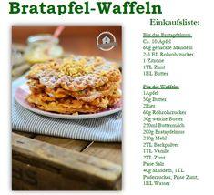 Bratapfel Waffeln - Apple-Cinnamon-Almond Waffles | Das Knusperstübchen