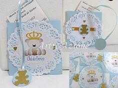 Artte Azione: Convite Chá de bebê urso com coroa