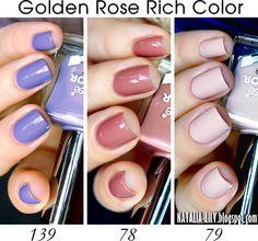 natalia-lily: Beauty Blog: PORÓWNANIE: GOLDEN ROSE RICH COLOR 78 79 139   wiosna/lato 2015