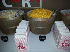 Wedding DIY Done Right - Popcorn Buffet | Hitched Events, LLC - Dallas Wedding Planner | Dallas Event Planner