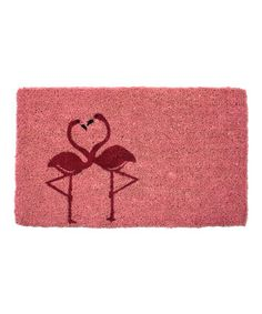 Take a look at this Flamingos in Love Handwoven Doormat by Entryways on #zulily today!