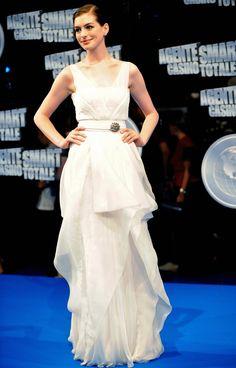 Anne Hathaway -- www.whitesrose.etsy.com Go here for your Dream Wedding Dress & Fashion Gown!