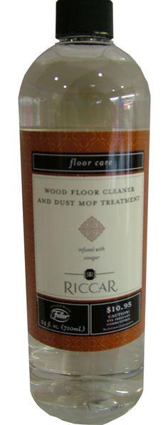 Riccar Wood Floor Cleaner and Dust Mop Treatment Cleaning Products, Cleaning Hacks, Wood Floor Cleaner, Floor Care, Unique Products, Objects, Flooring, Bottle, Ideas